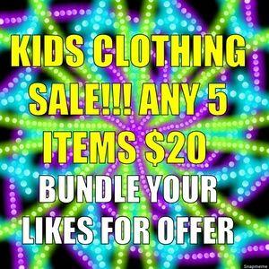 Excludes Already bundled clothing!
